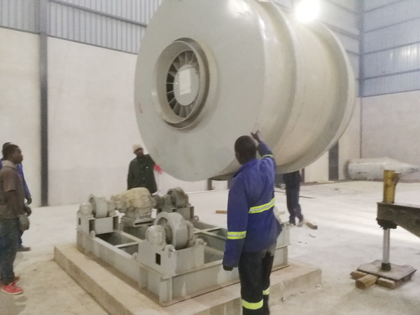 Aimix dry mortar plant set up in Zambia 3