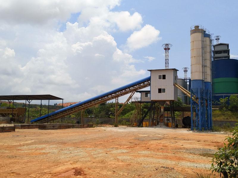 AJ90 Concrete Batching Plant in Batam Indonesia