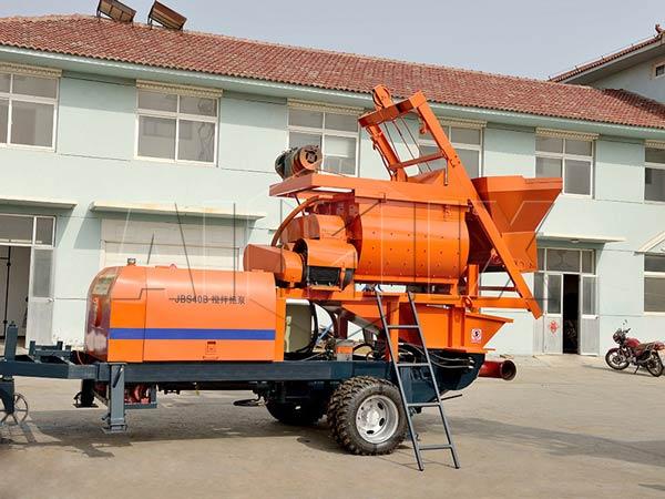 JBS40-JS750 listrik truk pompa beton