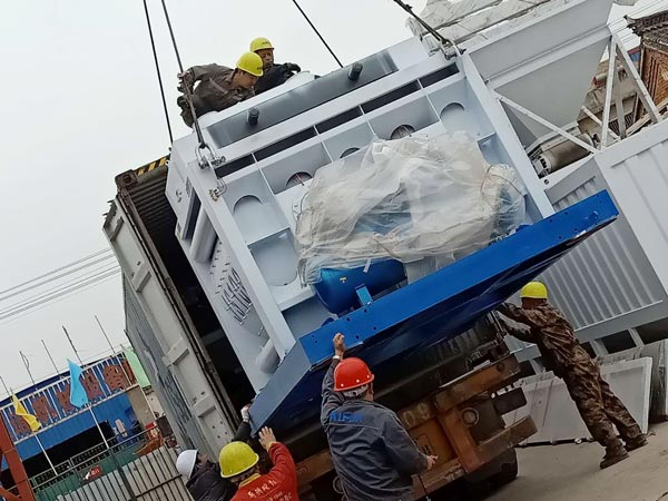 Aimix AJ90 concrete plant sent to Indonesia 5