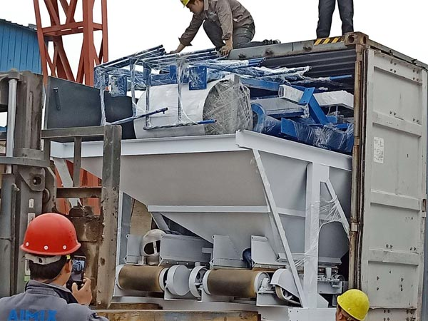 Aimix concrete plant sent to Indonesia