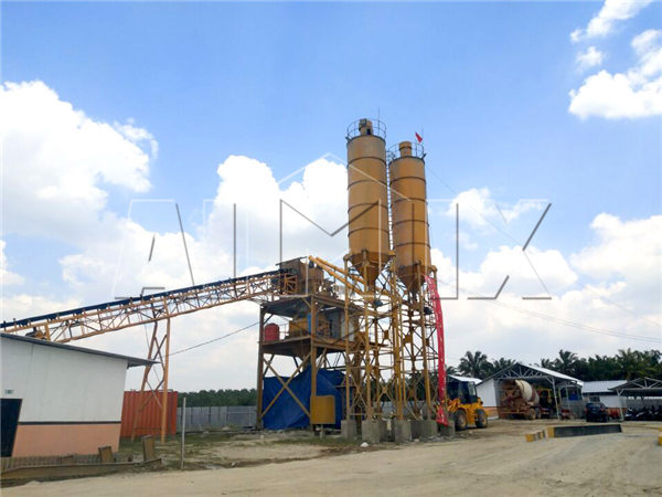 Aimix AJ90 Concrete Batching Plant set up in Indonesia in 2017