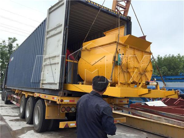 AJY-25 concrete plant exported