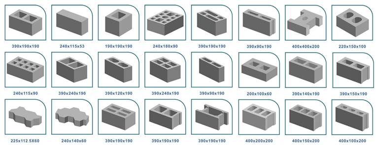 concrete block types