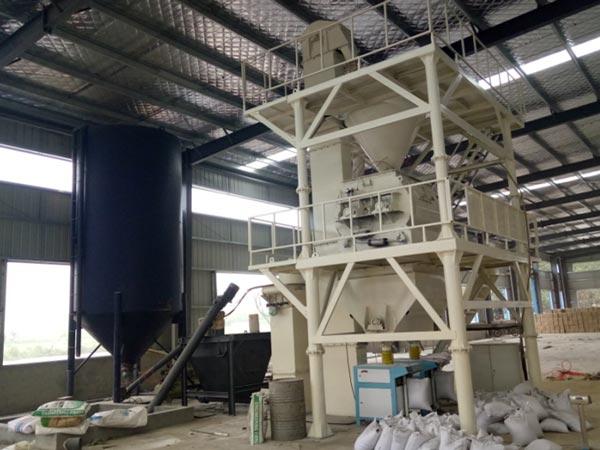 lini produksi mortar kering semi-otomatis