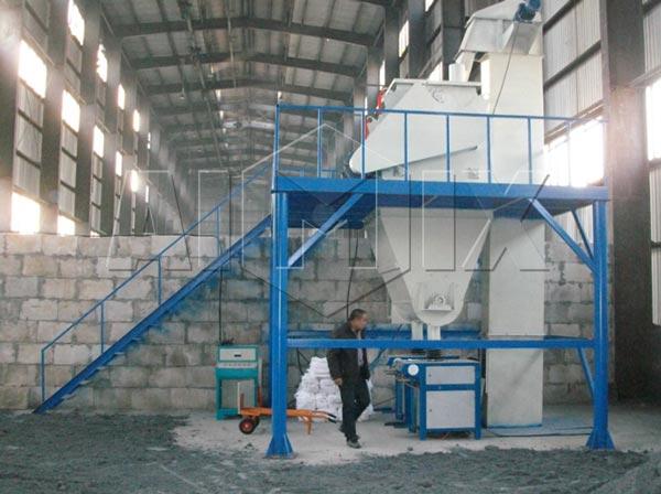 lini produksi mortar kering kecil