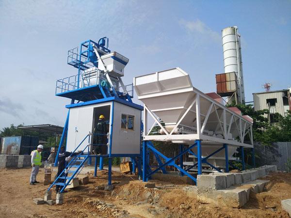 Aimix AJ50 pabrik beton campuran basah di Sri Lanka