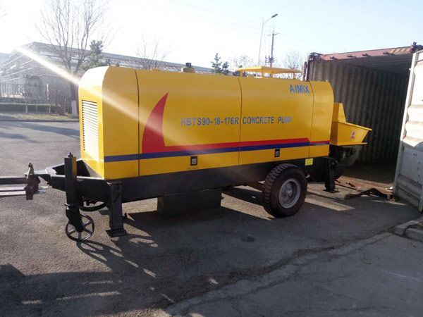 Aimix diesel concrete pump to Kazakhstan 2