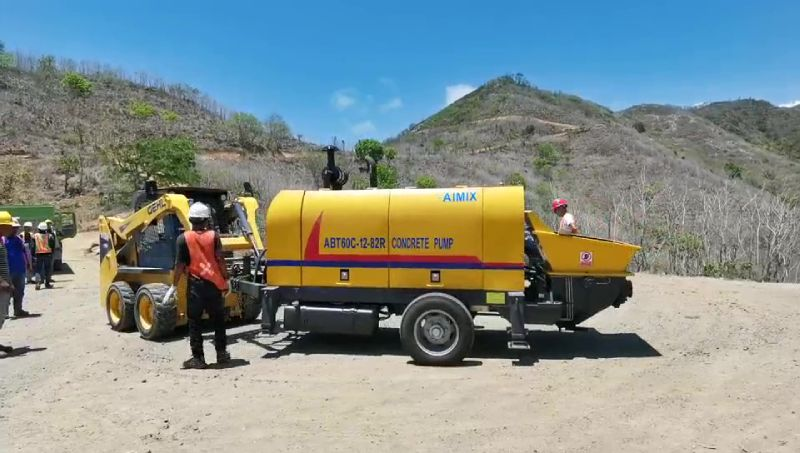 AIMIX ABT60C Diesel Concrete Pump Working in Indonesia 1