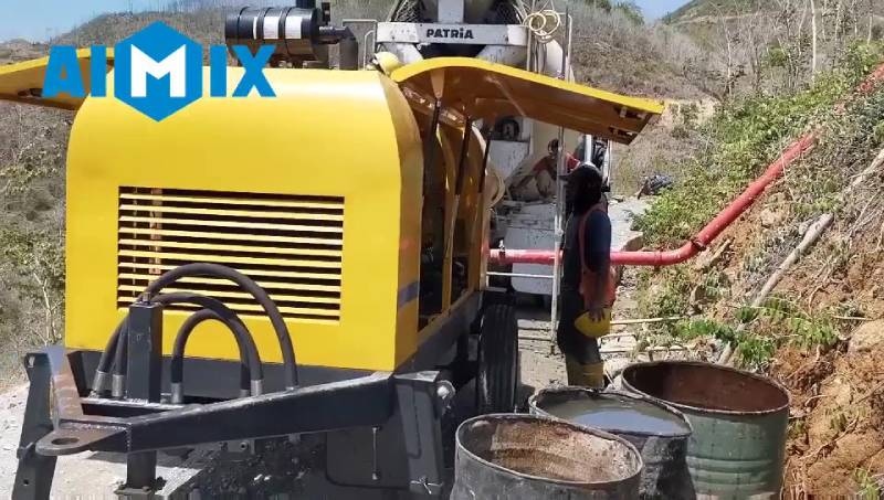 AIMIX ABT60C Diesel Concrete Pump Working in Indonesia 2