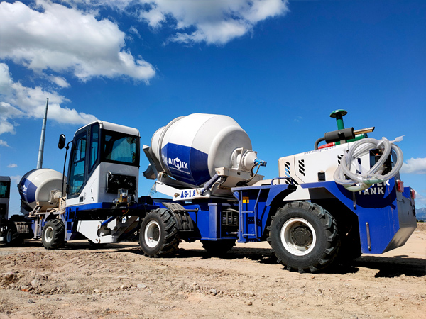 Aimix self-loading concrete mixer in the Philippines