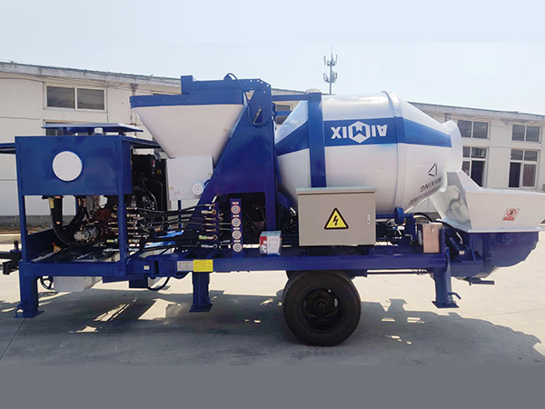 aimix concrete mixer pump sent to Indonesia 3