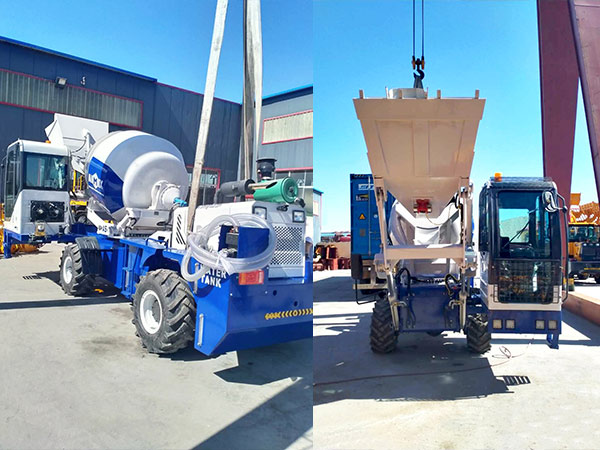 AIMIX self loading concrete mixer sent to Philippines 1