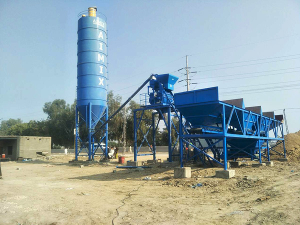 AJ25 batching plant mini di Pakistan