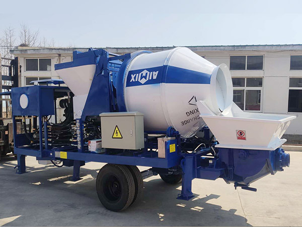 aimix concrete mixer pump sent to Indonesia