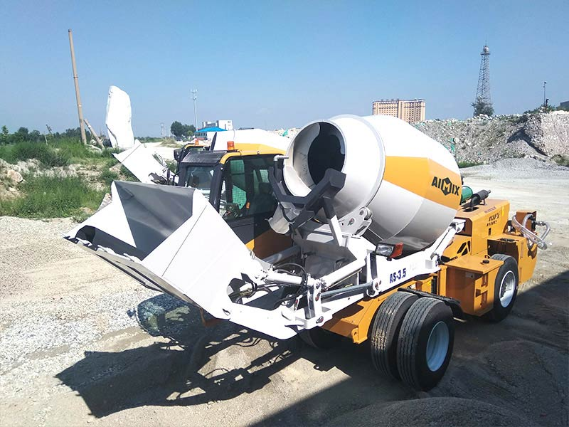 AIMIX self loading concrete mixer sent to Kenya