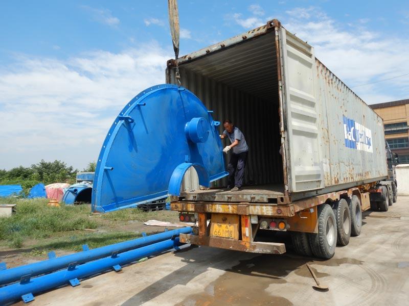 Pabrik batching bergerak AJY35 dikirim ke Bukhara Uzbekistan