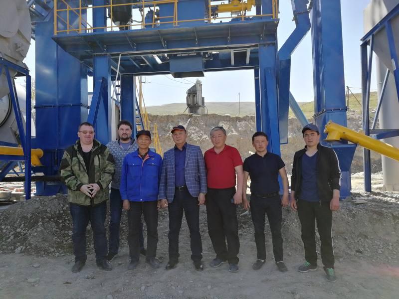 Instalasi selesai pabrik aspal ALQ60 Kyrgyzstan