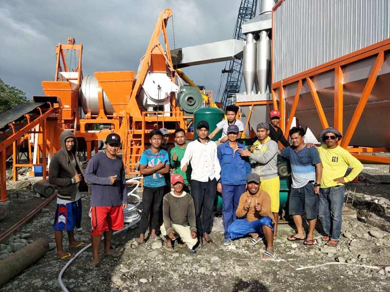 Pabrik pencampur aspal ALYJ60 di Filipina