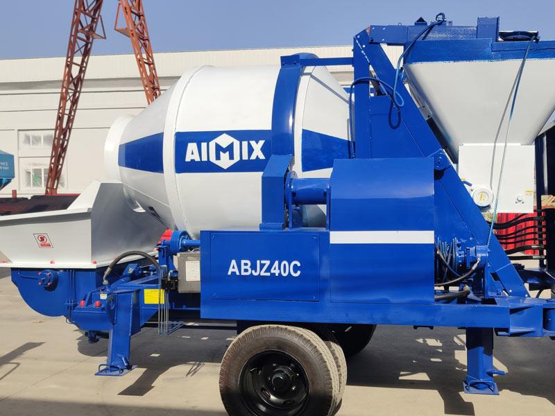 40m3 concrete mixer pump sent to Indonesia