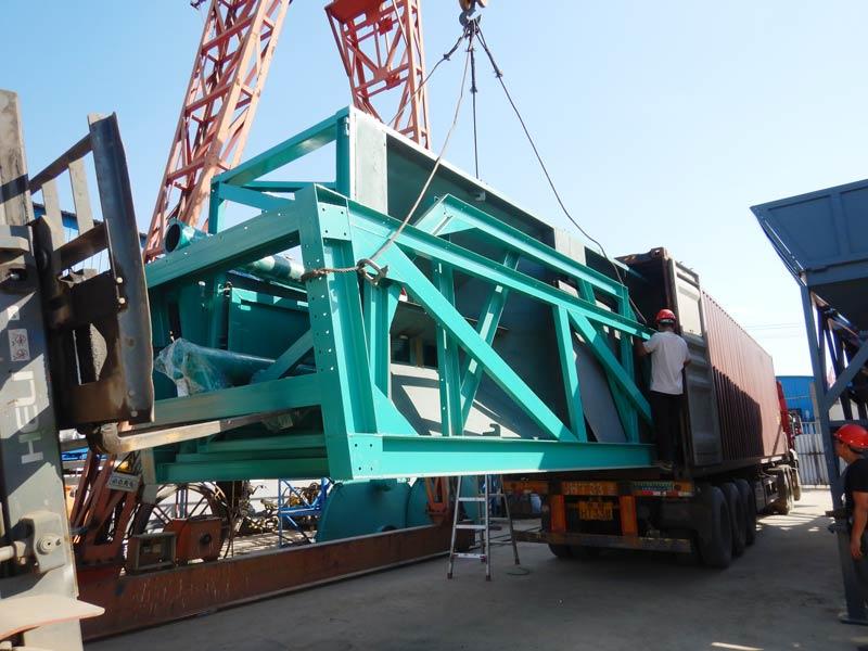 AIMIX 60 mobile batching plant dimuat