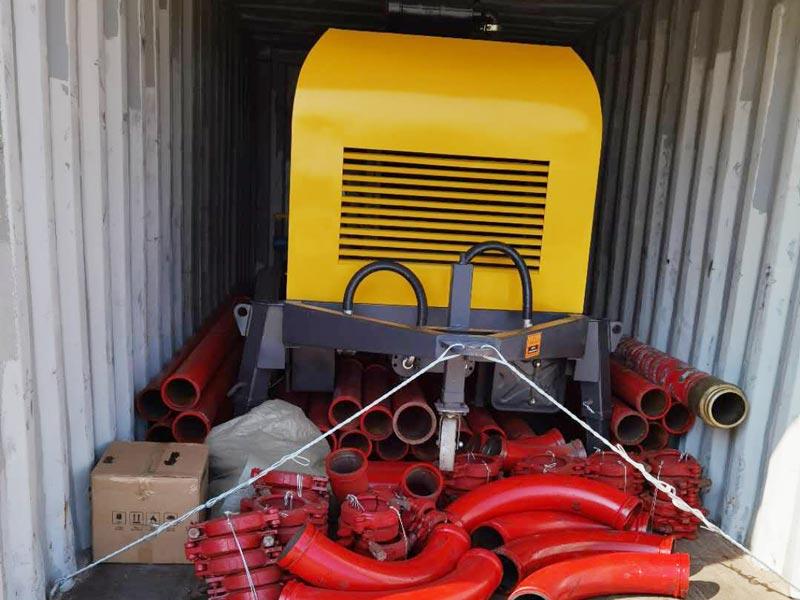 Pompa beton diesel AIMIX ABT40C dikirim ke Filipina
