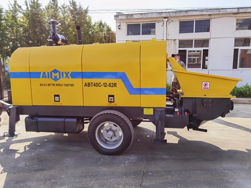 Pompa beton diesel AIMIX ABT40C ke Filipina