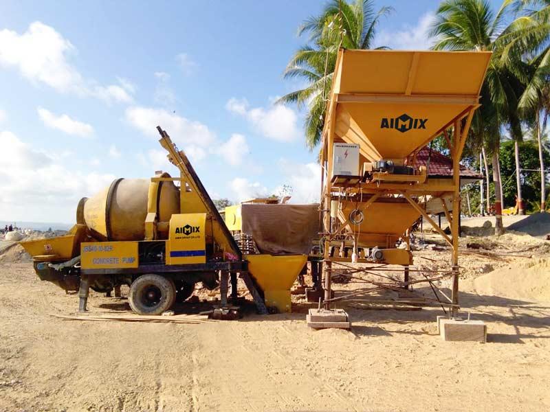 Pompa mixer beton AIMIX di Indonesia