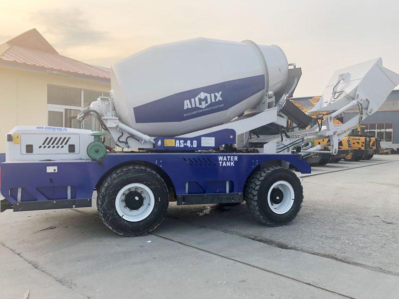 Mixer beton beban mandiri AS4.0 dikirim ke Rusia