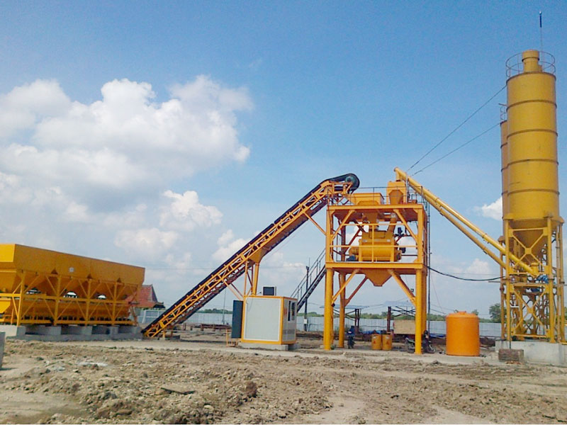 AJ90 batching plant in Java Indonesia