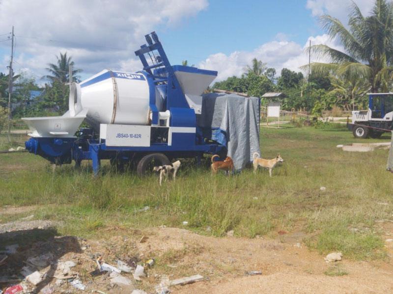 AIMIX ABJZ40C mixer pump in Papua Indonesia
