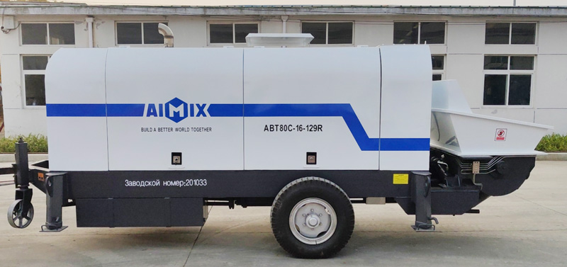 Pompa beton diesel AIMIX ABT80C dikirim ke Rusia