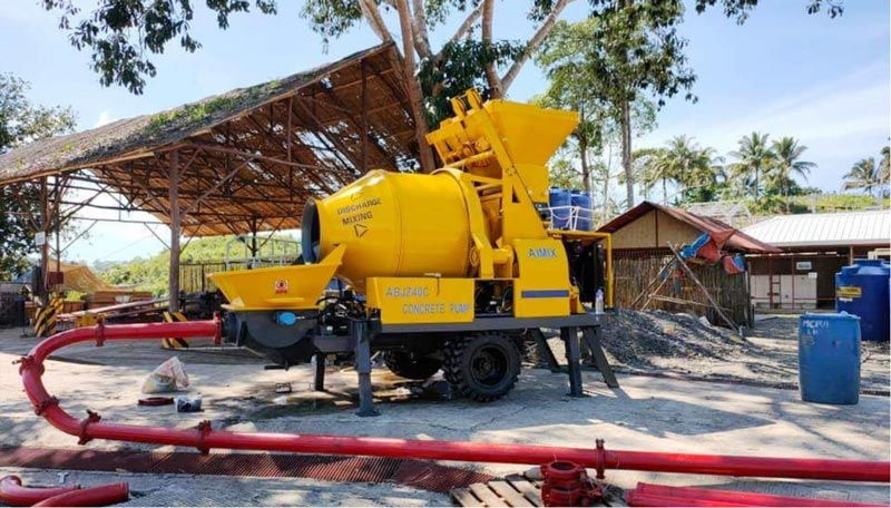 AIMIX mixer pompe beton ABJZ40D di Bekasi Indonesia