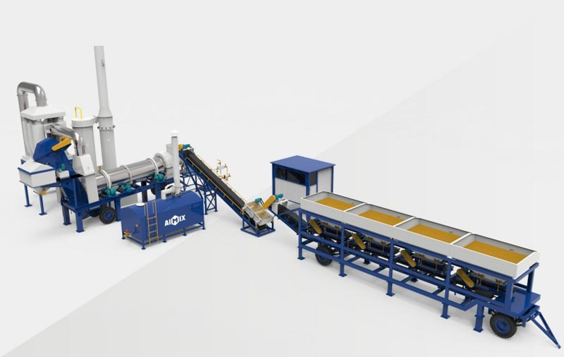 ALT mobile asphalt mixing plant
