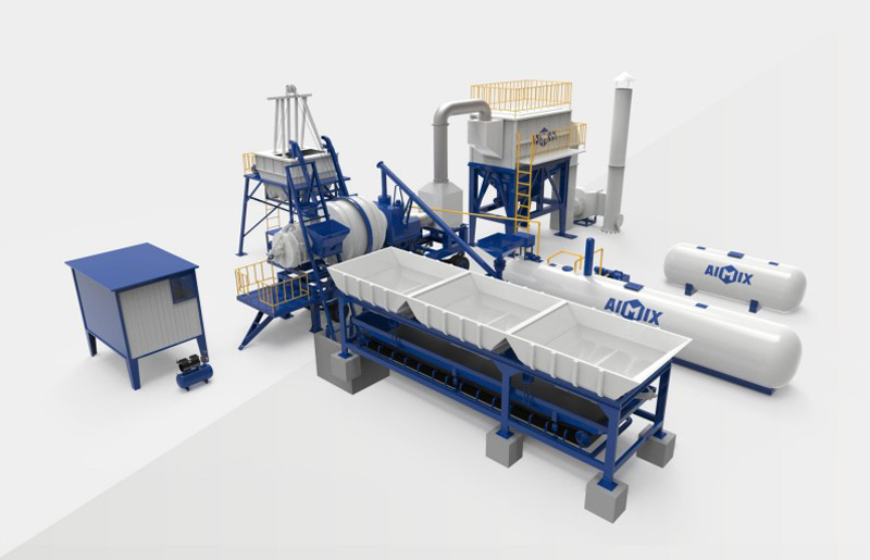 ALYJ mobile asphalt mixing plant