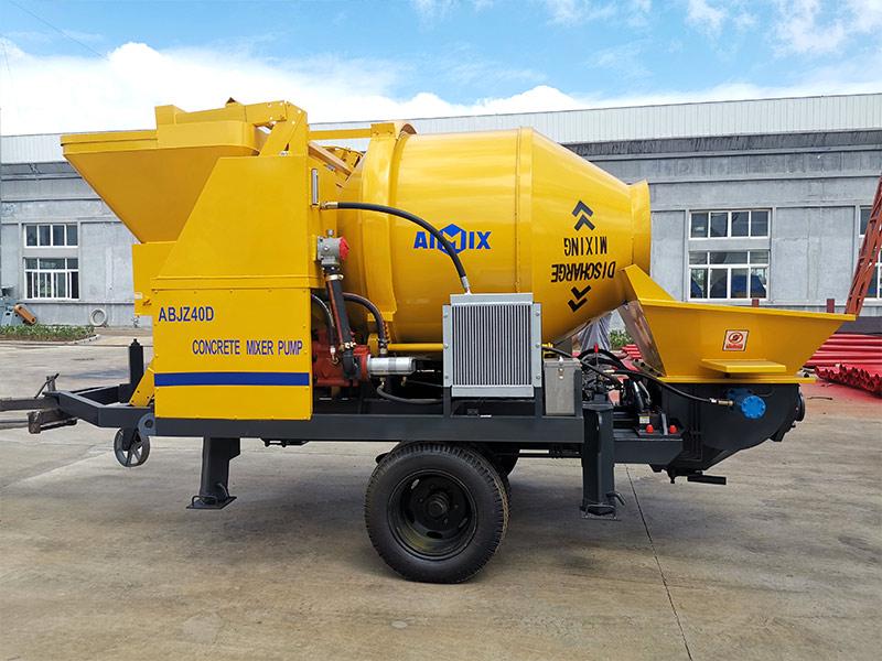 ABJZ40D concrete mixer pump sent to Indonesia