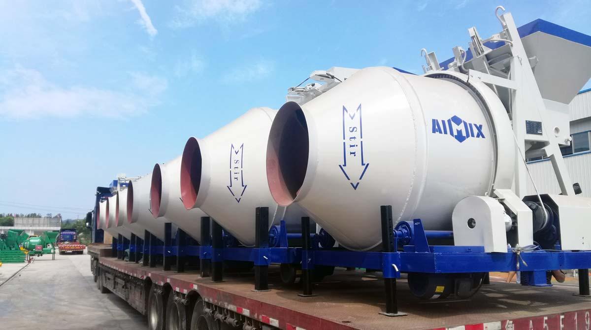 Mixer beton AIMIX diekspor