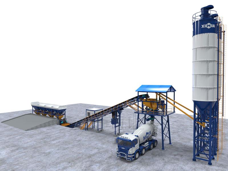 AJG60 dry concrete batching plant