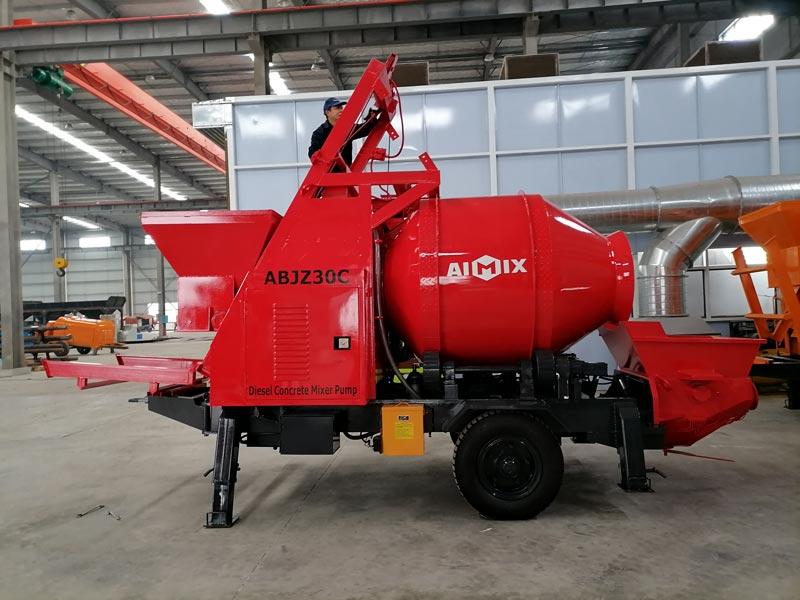 pompa mixer beton diesel dikirim ke Malaysia