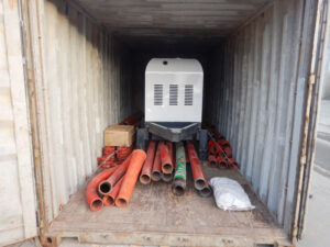 Pompa beton AIMIX ABT30C dikirim ke Indonesia