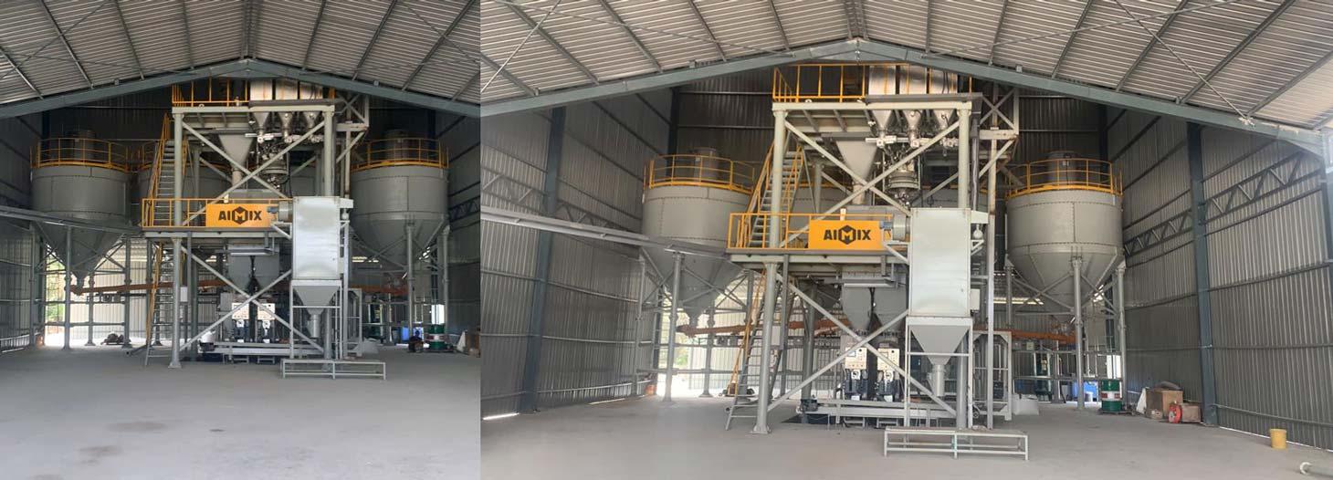 Pabrik mortar kering 10 ton di Malaysia