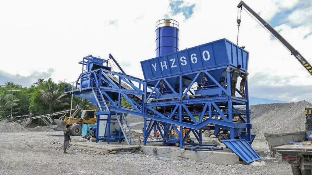 60m3 mobile batching plant