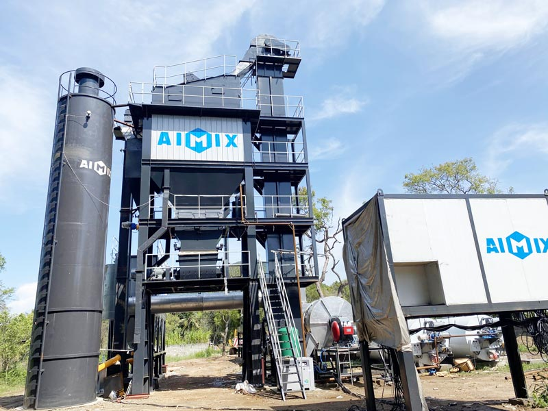 Pabrik pencampuran aspal ALQ100 di Sri Lanka