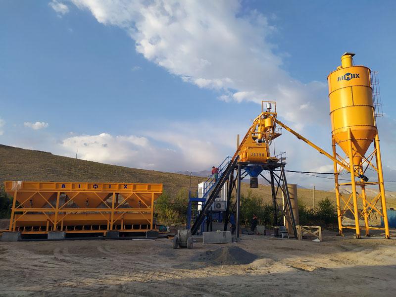 AJ35 batching plant mini di Uzbekistan