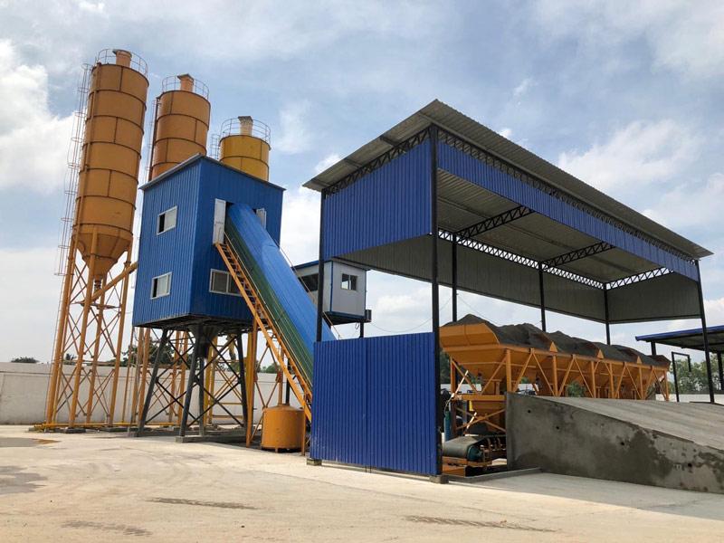 Pabrik batching kecil AJ60 di Sri Lanka