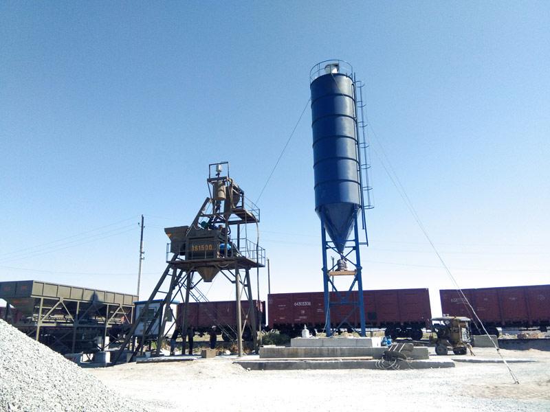 AJ75 batching plant in Uzbikstan
