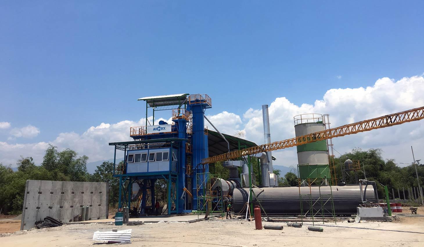 ALQ100 asphalt mixing plant di Indonesia
