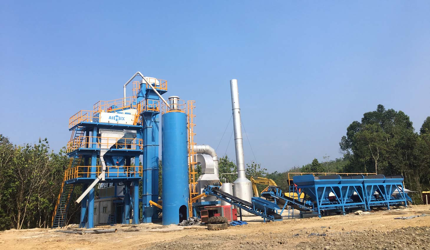 ALQ80 asphalt mixing plant