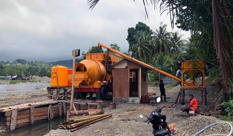 mobile batching plant in Indonesia