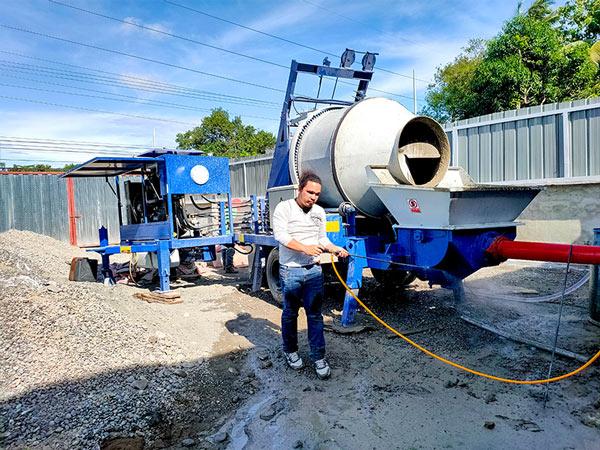 ABJZ40C mixer pompe beton di Philippines